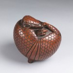 Bronze sculpture of an Armadillo by artist Anthony Smith