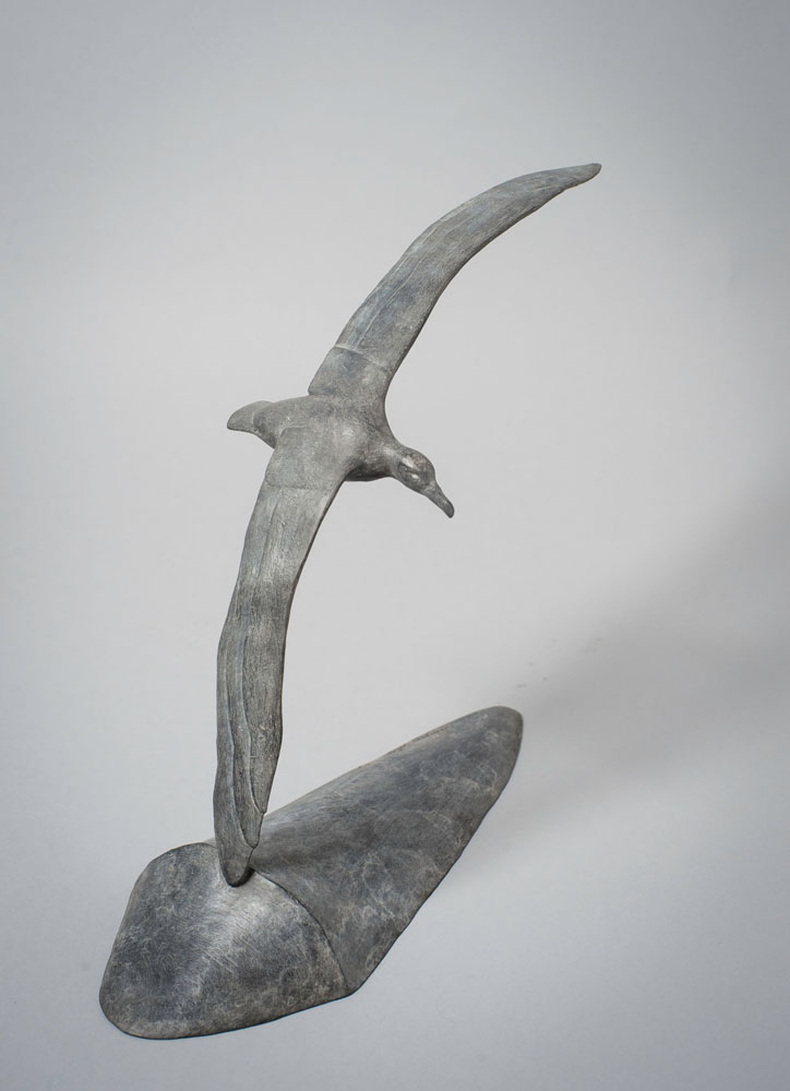 Bronze sculpture of a flying Albatross by artist Anthony Smith
