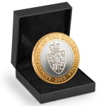 Guinea two pound coin in presentation box designed and sculpted by the artist Anthony Smith