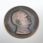 Kenneth Clark Prize bronze medal designed and sculpted by the artist Anthony Smith for Winchester College