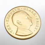 Kenneth Clark Prize gold medal designed and sculpted by the artist Anthony Smith for Winchester College