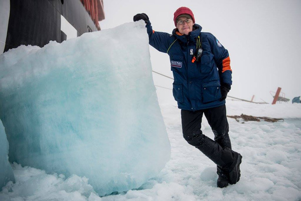 Anthony Smith at the Geographic North Pole