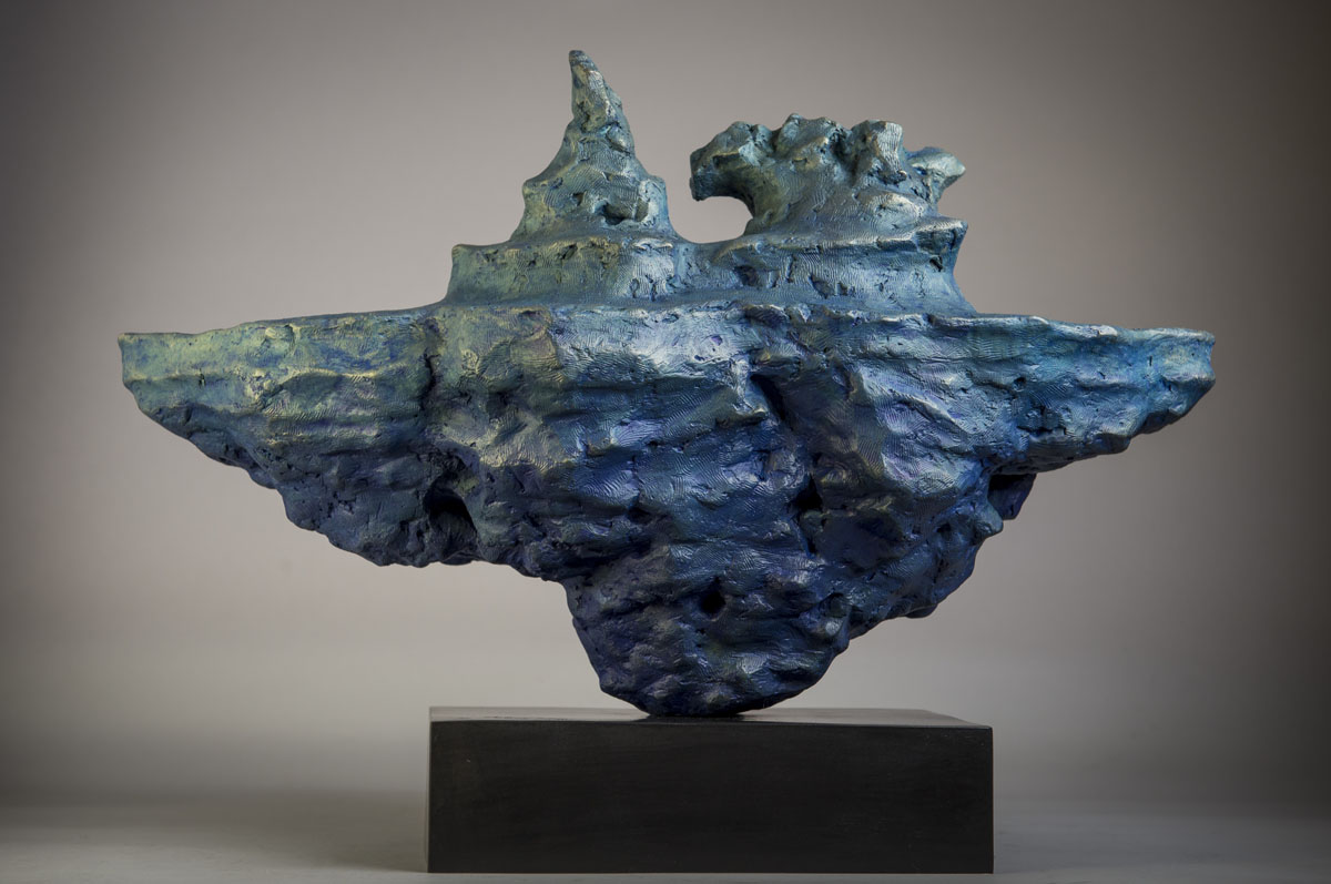 Bronze sculpture of an Iceberg floating underwater by the artist Anthony Smith
