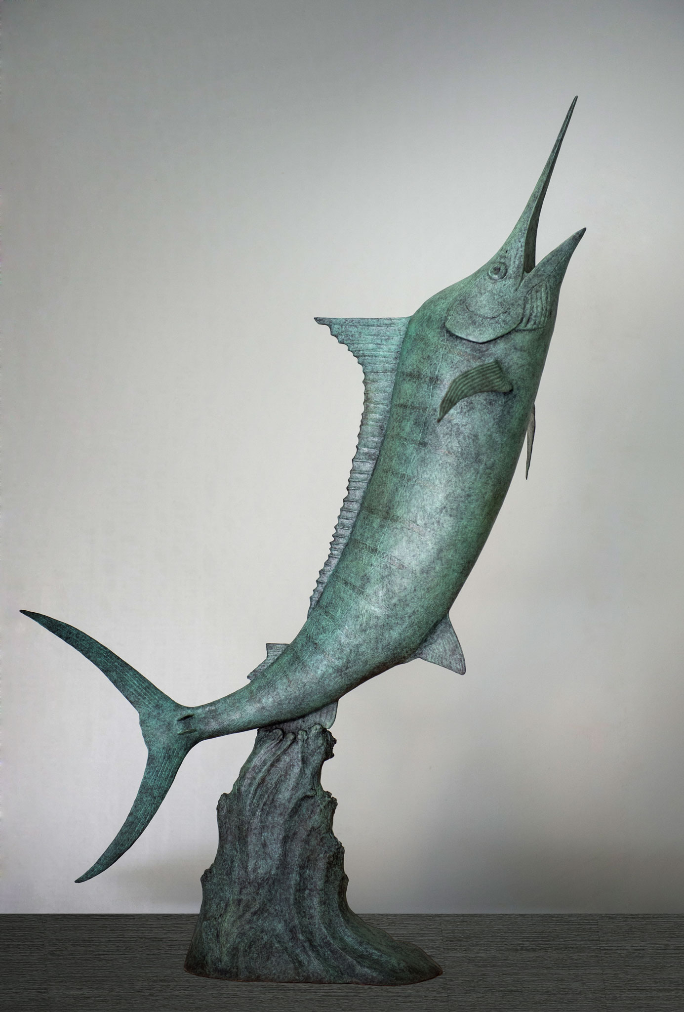 Marlin fish bronze sculpture by Anthony Smith