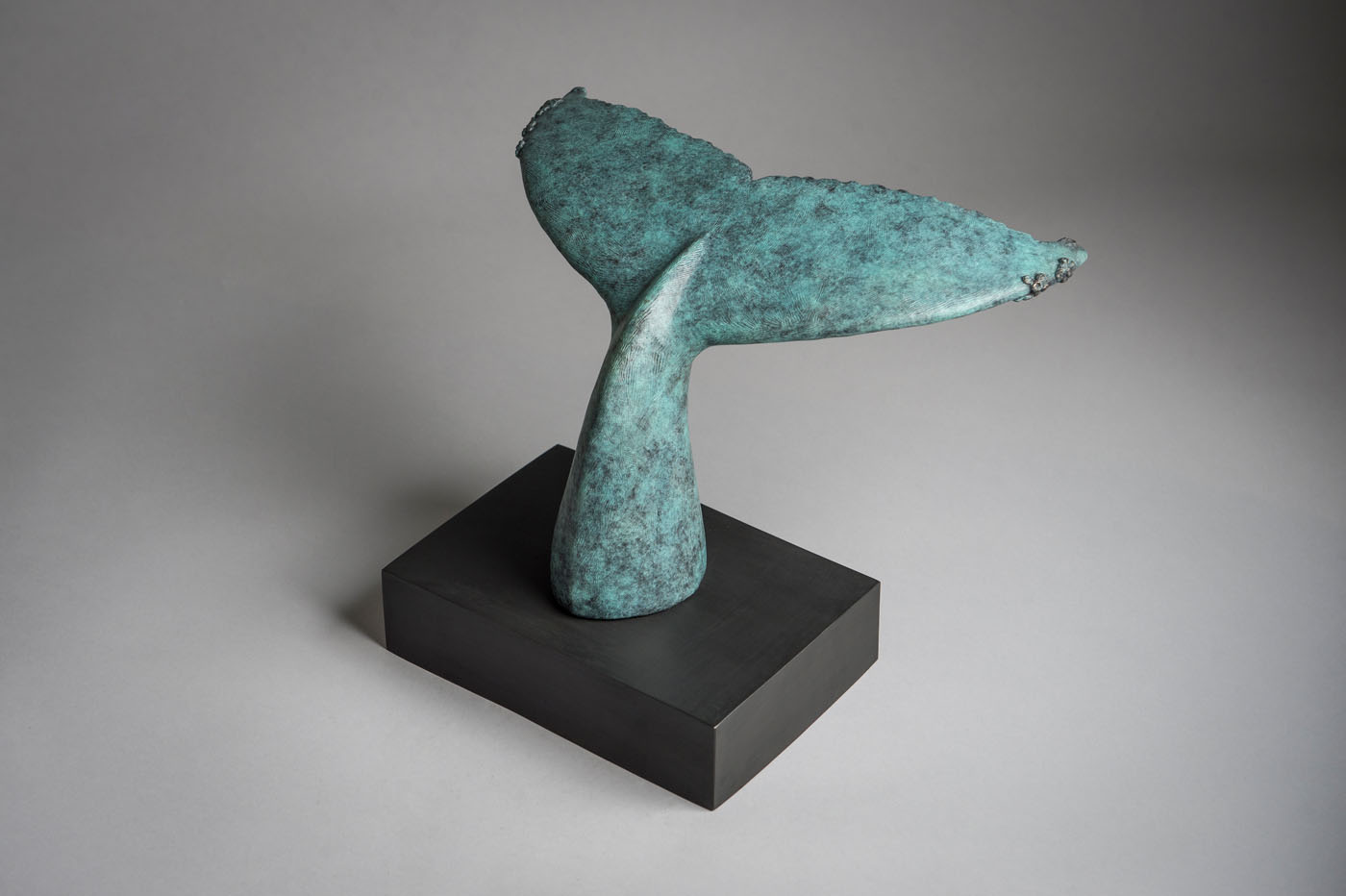 Bronze sculpture of a Humpback Whale tail by artist Anthony Smith